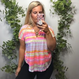 Lily Pulitzer Striped Tee M
